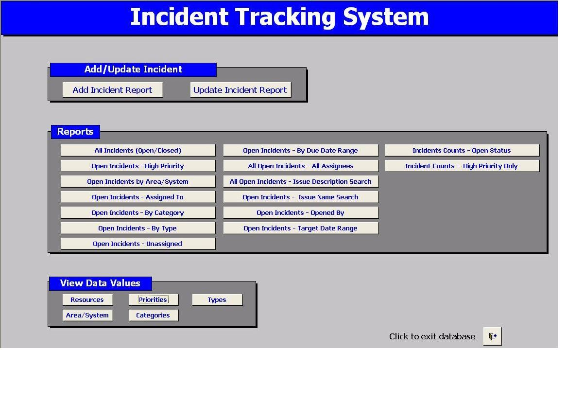 Incident Tracking System 2 1 Full Screenshot