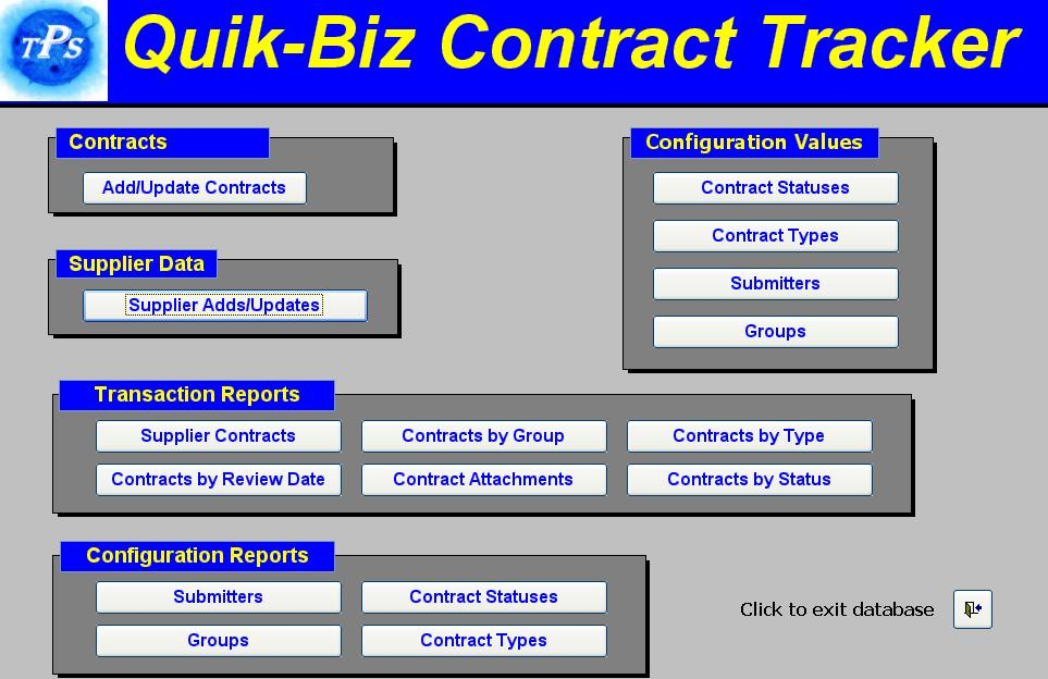 Click to view Quik Biz-Contract Management System screenshots