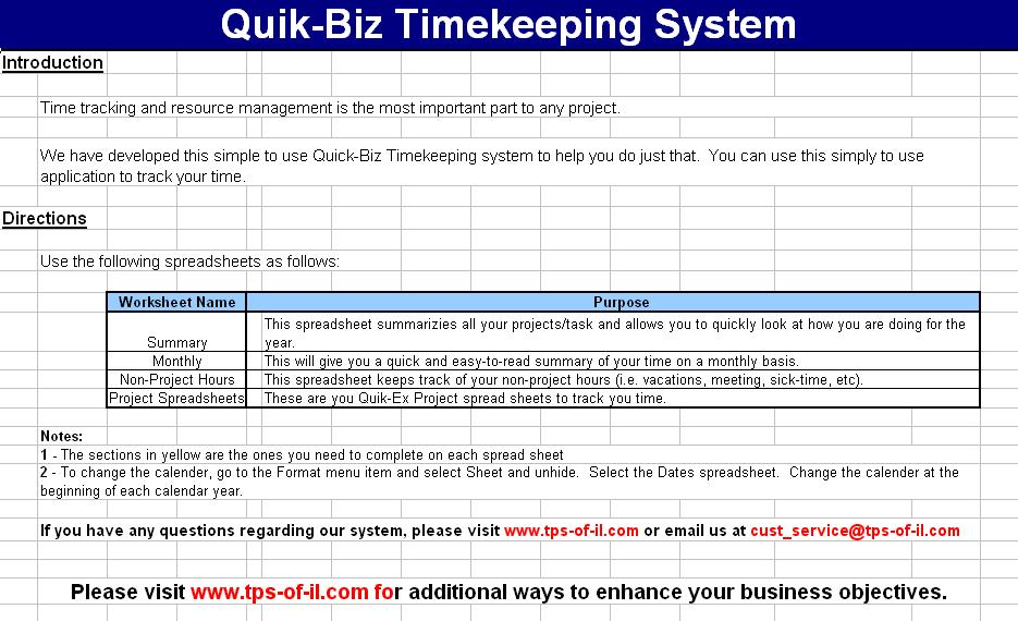 Click to view Quik-Biz Timekeeping System screenshots